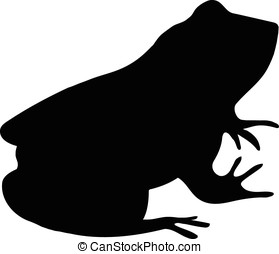 frog silhouette - vector, black silhouette of frog isolated...