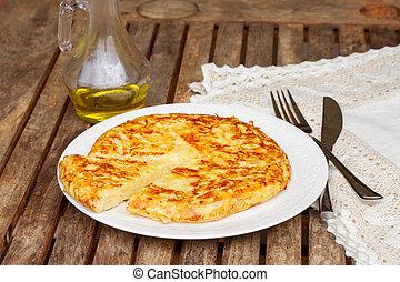 tortilla - spanish omelette - spanish potato omelette...