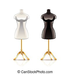 Mannequin isolated on white vector - Mannequin isolated on...