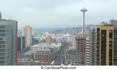 Seattle Landscape. - View of Seattle and the space needle....