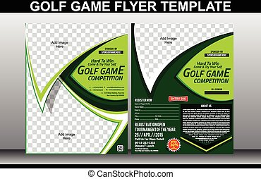 golf game flyer and magazine cover template vector...