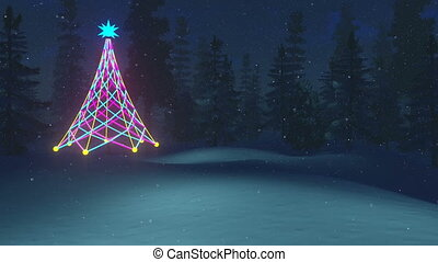Christmas night - Animated Merry Christmas text, Christmas...