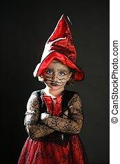 menina,  toddler, dia das bruxas, traje