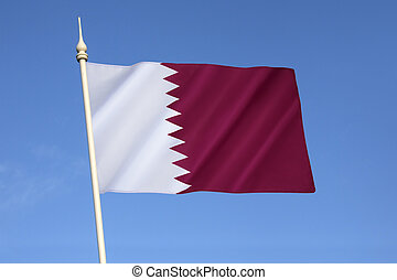 Flag of Qatar - National flag and ensign of Qatar - The flag...