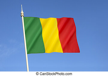 Flag of Mali - The national flag of Mali - The flag is...
