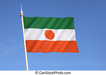 Flag of Niger - the national symbol of the West African...