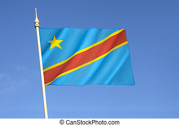 Flag of the Democratic Republic of the Congo Congo-Kinshasa,...