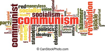 Communism word cloud concept Vector illustration