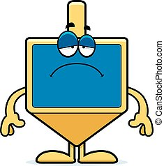 Sad Cartoon Dreidel - A cartoon illustration of a dreidel...