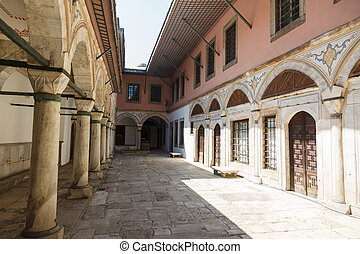 Harem in Topkapi Palace - corridor and entrance to the Harem...