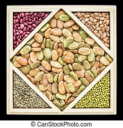 fava bean tangram abstract - fava beans and other beans and...