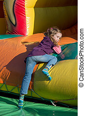 bouncy castle on a folk festival - on a folk festival have...