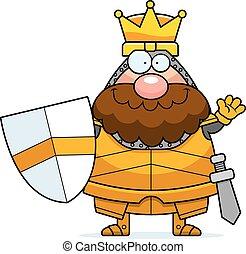 Waving Cartoon King