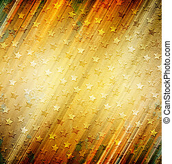 Abstract stars on grunge background