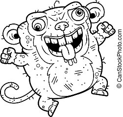 Crazy Ugly Monkey - A cartoon illustration of an ugly monkey...