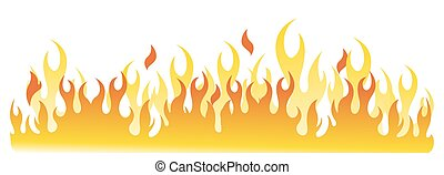 Burning Fire - Abstract Burning Fire Flames Vector...