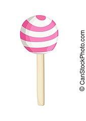 Vanilla Lollipop - Tasty Delicious Striped Vanilla Flavored...