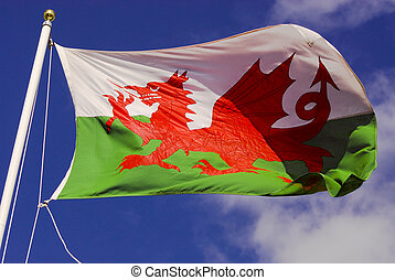 Welsh Flag - the Red Dragon of Wales