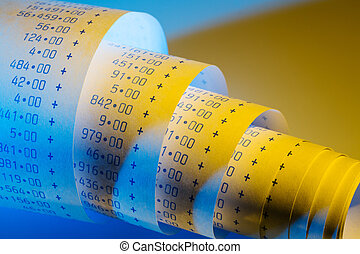 arithmetic strip of calculator - the computational stripes...