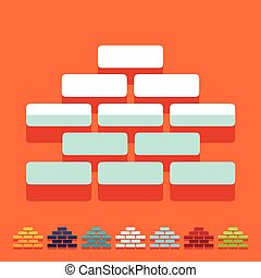 Flat design: brickwork