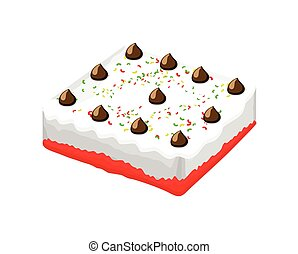 Cake Vector - Tasty Delicious Birthday Anniversary Cake...