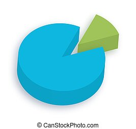 3d Pie Chart - Colorful Abstract Business 3d Pie Chart...