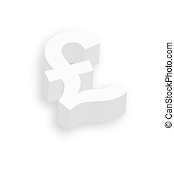 3d Pound Symbol - Abstract Vintage White 3d Pound Symbol...