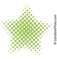 Halftone Star - Abstract Grunge Halftone Star Element Vector...