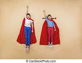 Children as superheroes - Children are playing as...