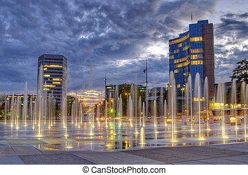 United-Nations place, Geneva, Switzerland, HDR -...