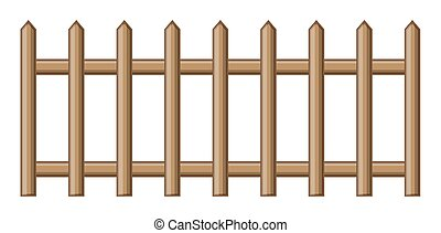 Wooden Fence - Abstract Retro Wooden Fence Vector Design