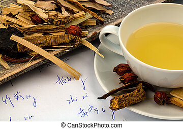 tea of ??traditional chinese medicine - ingredients for a...