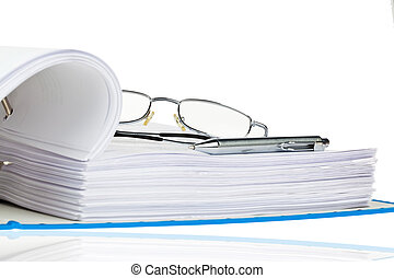 arquivo, pasta, com, documentos, e, documentos,