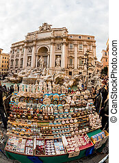 italy, rome, trevi fountain