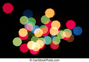 Christmas Light Abstract - Christmas lights defocused to...