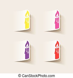 realistic design element: christmas candle