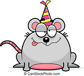Cartoon Mouse Drunk Party