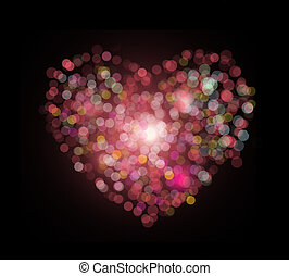 heart shape bokeh