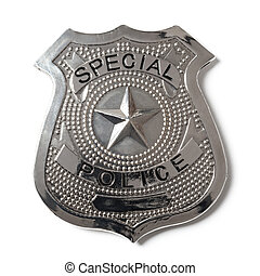Police Badge with Clipping Path - Stock Photo - Special...