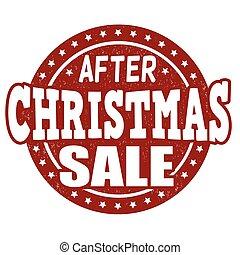 After Christmas sale stamp - After Christmas sale grunge...