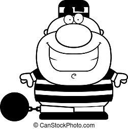 Smiling Cartoon Prisoner