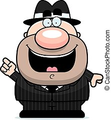Cartoon Mobster Idea - A cartoon illustration of a mobster...