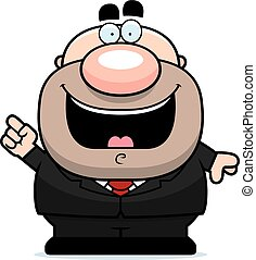 Cartoon Businessman Idea
