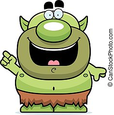 Cartoon Goblin Idea - A cartoon illustration of a goblin...