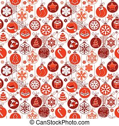 Christmas pattern with vintage balls.