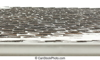 Winter roof - Snow falls on shingles of roof Toronto,...