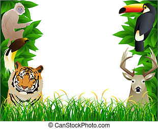 Wild animal - Cute wild animal illustration