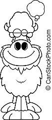 Cartoon Buffalo Dreaming