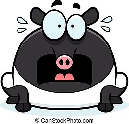 Scared Cartoon Tapir - A cartoon illustration of a tapir...