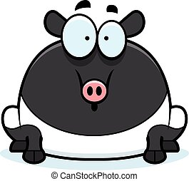 Surprised Cartoon Tapir - A cartoon illustration of a tapir...